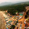 Вид на Мурдешвар с обзорной площадки в гопураме (18-й этаж)