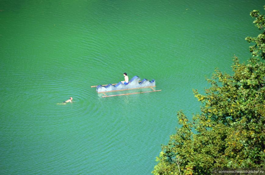 Озеро Вёртзее. Август в разгаре, в тени +42С.
