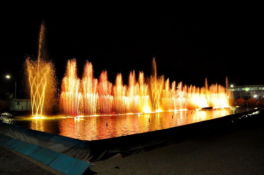 23. Вот так выглядит резервуар с водой и фонтанами.