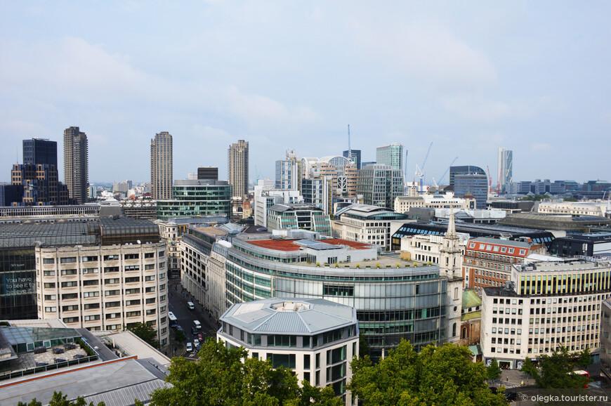 Панорамный вид Лондона с каменной галереи собора