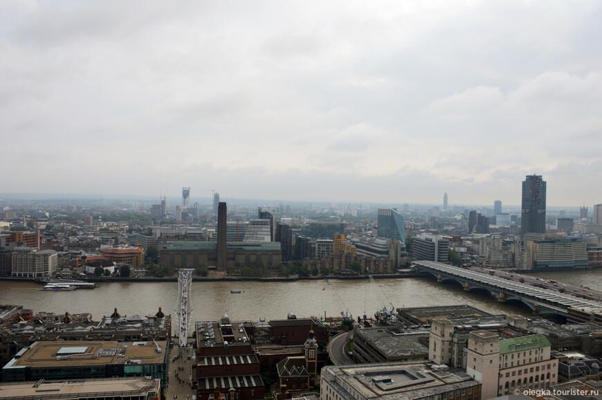 Панорамный вид Лондона с золотой галереи собора. Последний взгляд и вниз ...