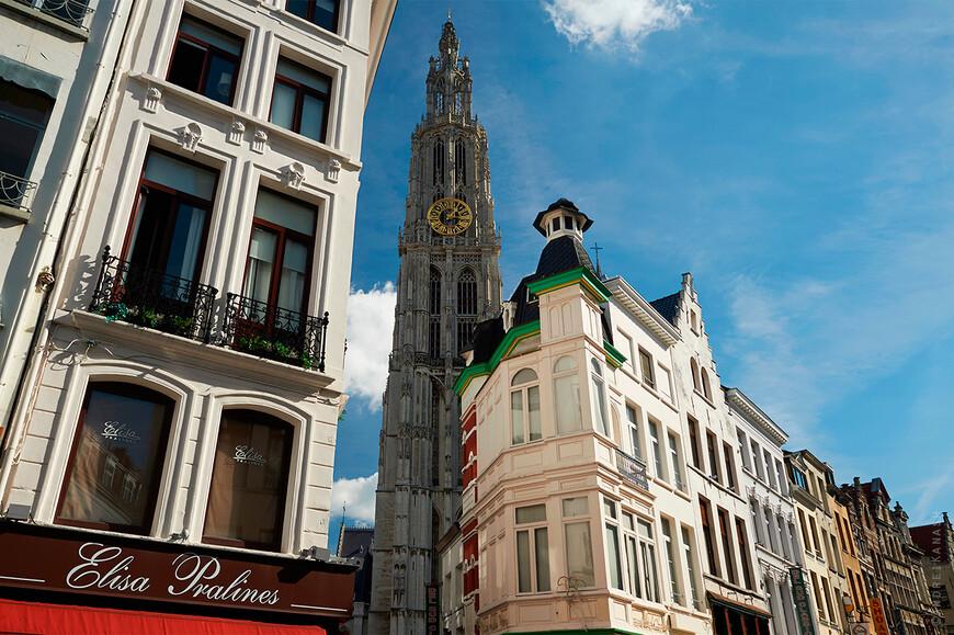 Антверпен, кафедральный собор, высота башни 123 метра