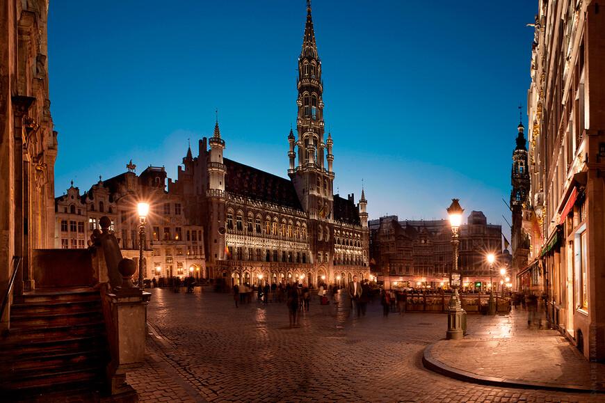 Брюссель, вечерний Гран пляс