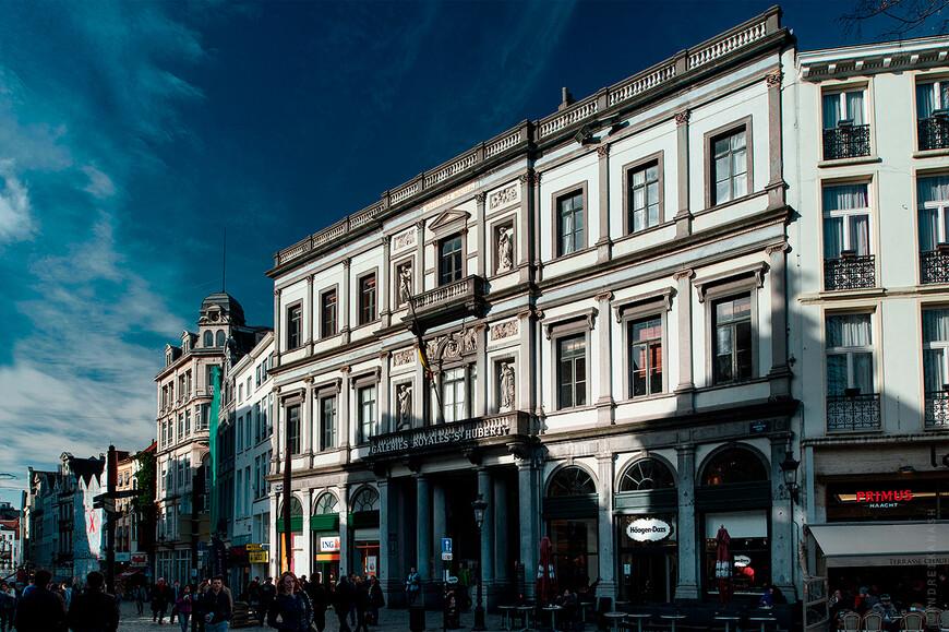 Брюссель, вход в первый в Европе пассаж Св. Убера
