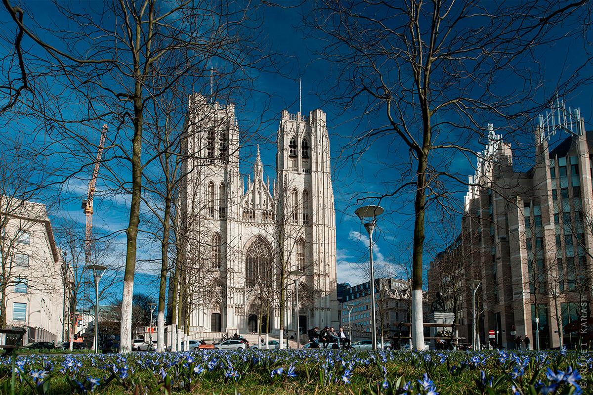 Брюссель,кафедральный собор имени Св. Михаила и Св. Гудулы, Бельгия фото