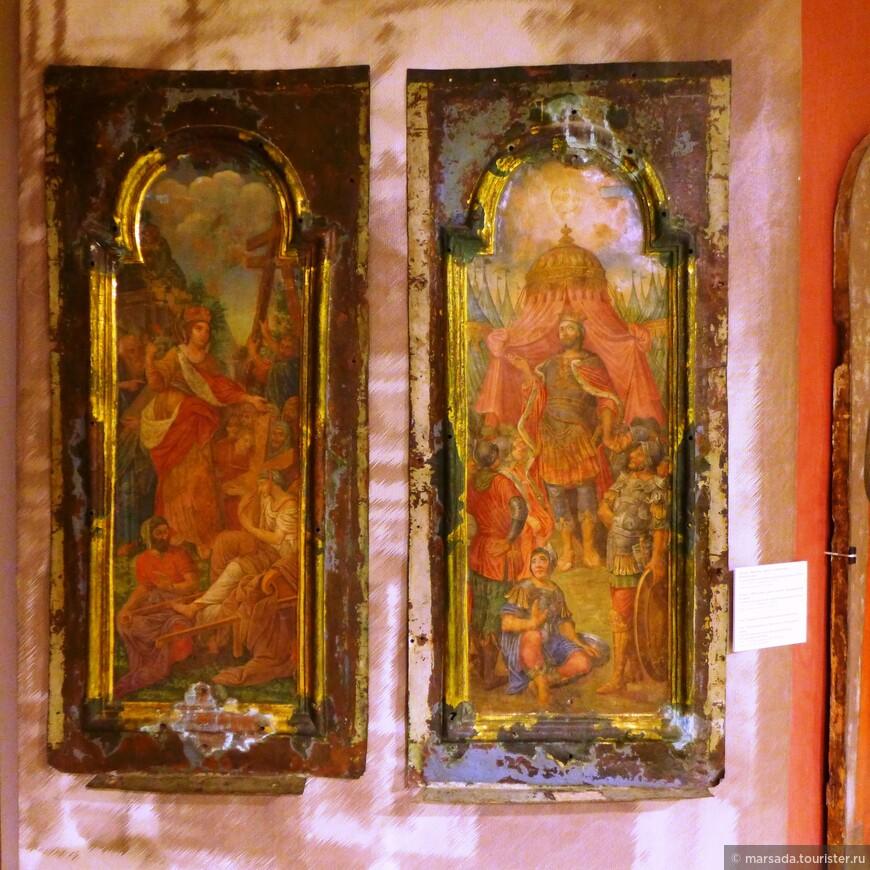 Здесь же представлены две сохранившиеся иконы на меди из иконостаса Подземной церкви середины XVIII века и иконы XIX из центральной части Воскресенского собора.