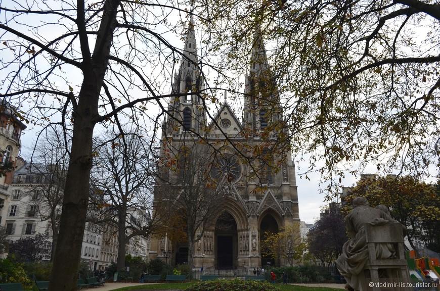 Базилика Святой Клотильды в VII-ом округе. Для любителей готики в архитектуре Париж - сокровище. Неоготических храмов не перечесть.