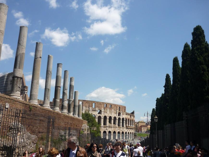 Посетили Колизей и развалины Римского форума по единому билету.