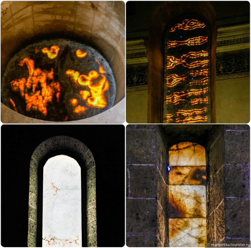 пока только в Орвието в таком большом количестве я встретила в храмах окна из оникса! Совершенно необыкновенное зрелище и оставляют незабываемые впечатления