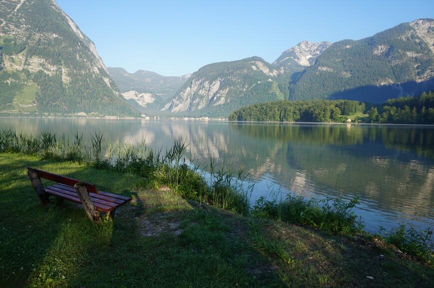 Ранним утром на озере Гальштатт