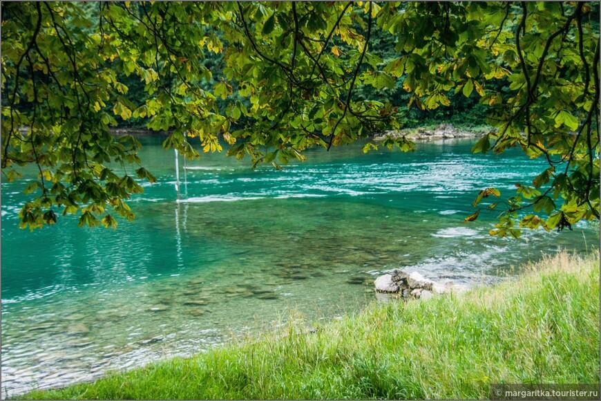 начало канала в сторону Цюрихского озера