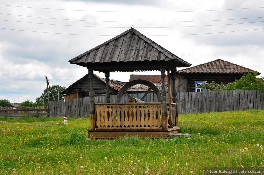 Колодец с колесом (д. Савина Алапаевского района)
