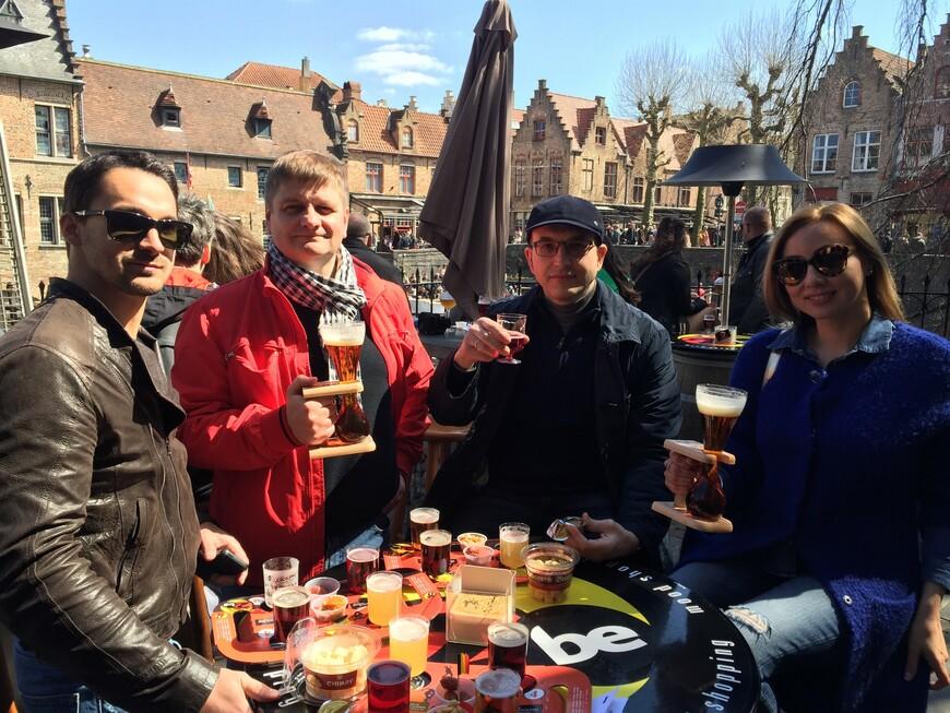 С партнерами Strategy Partners Group на пивной дегустации в Брюгге.