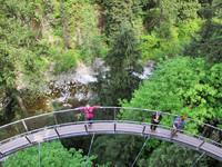 Ванкувер. Подвесной мост и Капилано парк.