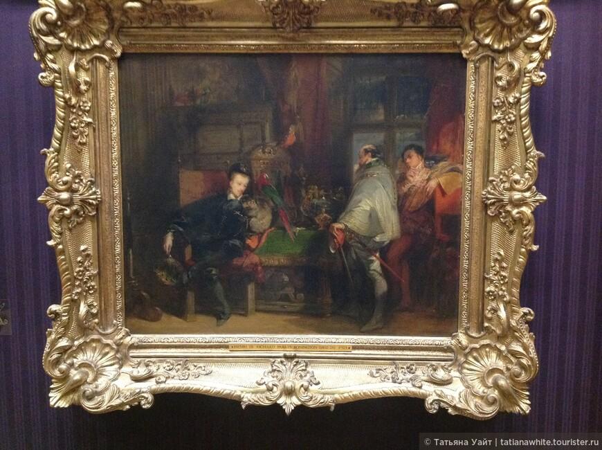 В пронизанных духом романтизма исторических полотнах Бонингтон с помощью бытовых деталей подчеркивает достоверность времени: «Генрих III и английский посол», 1828; «Генрих IV и испанский посол» — обе картины в собрании Уоллес, Лондон).