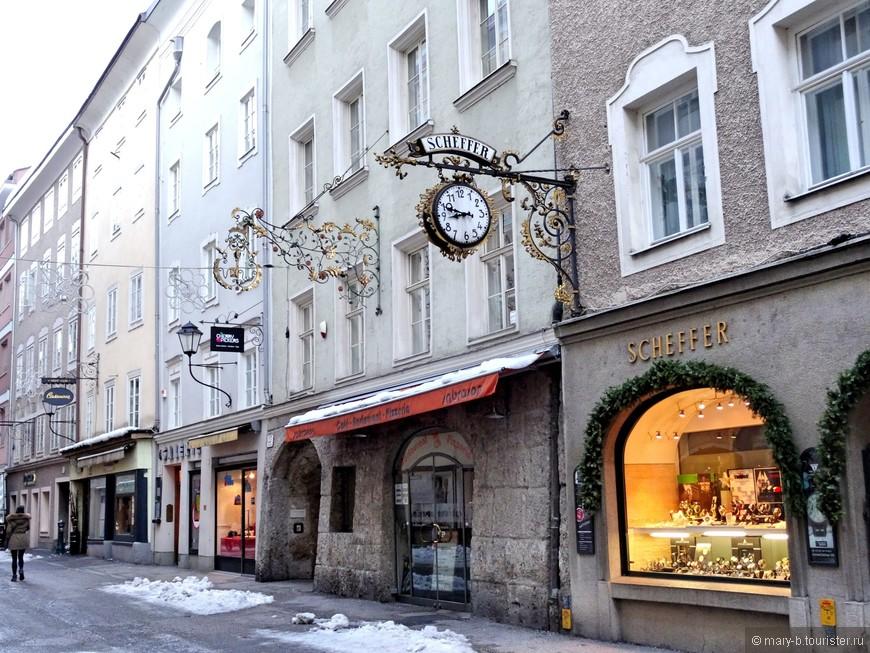 Зальцбург славится красивыми коваными вывесками