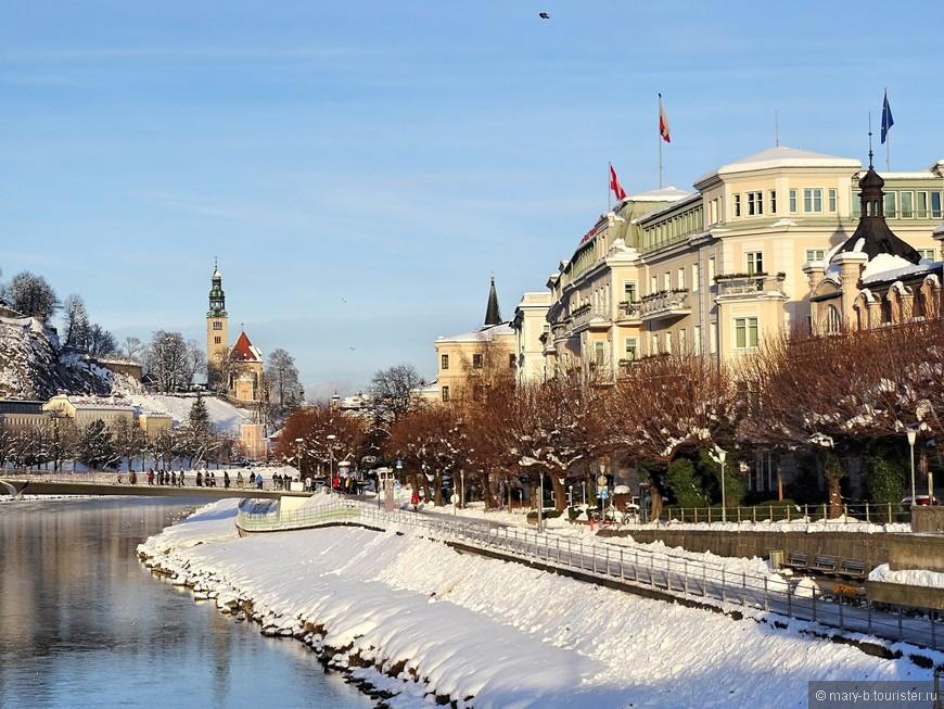 Улица Элизабеткай вдоль реки Зальцах