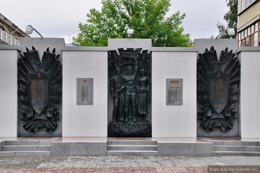 27. Памятная стена героям Великой Отечественной войны.