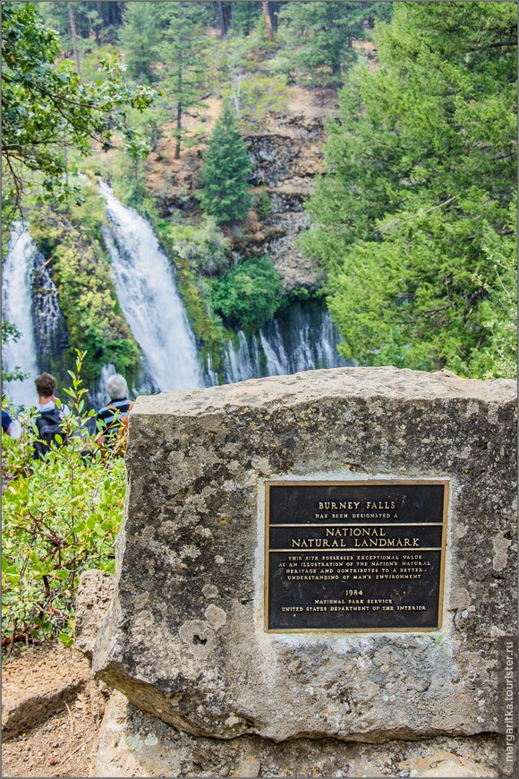 первый вид водопада со смотровой площадки