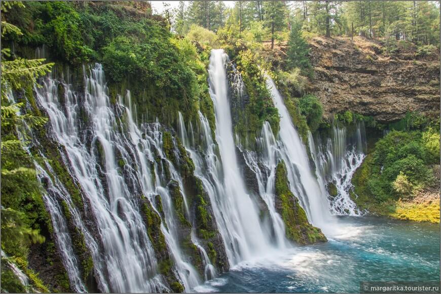самый крайний вид водопада слева
