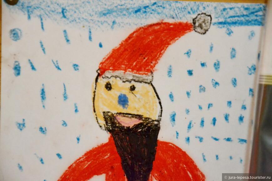 А этот Дед кавказец.Может ребята с восточных стран рисовали?