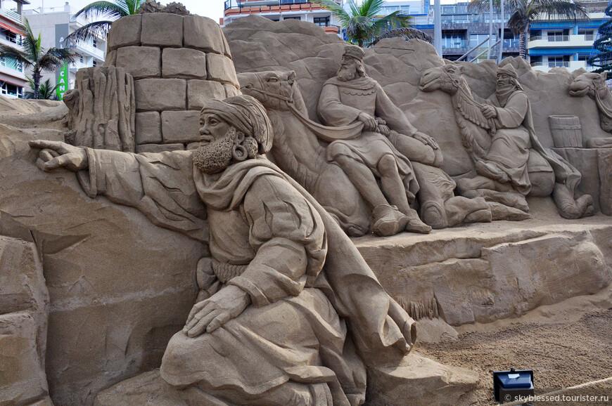 Песчаные рождественские скульптуры