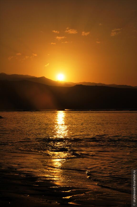 Последний закат на острове Гран Канария