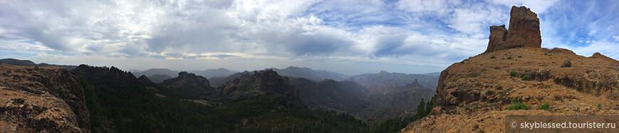 Панорама с горы Roque Nublo