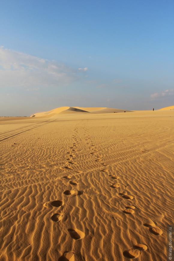 Белы дюны недалеко от Муйне