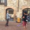 Сан Джиминьяно, уличные музыканты, экскурсии по Флоренции и Тоскане с частным индивидуальным гидом на русском языке