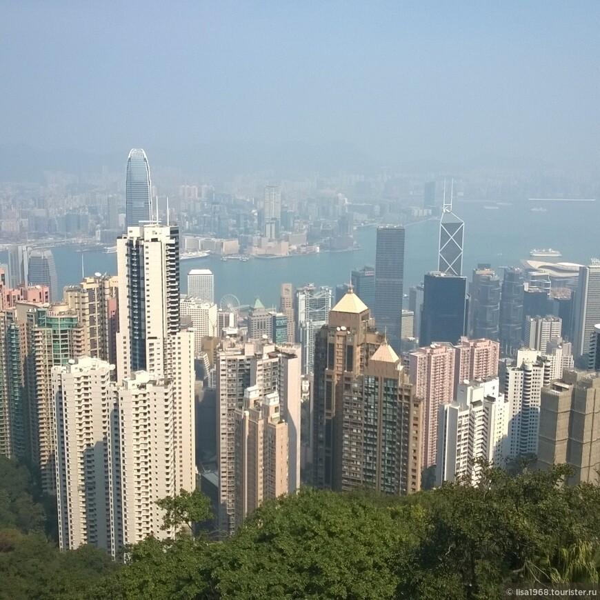 Гонконг  с высоты Пика Виктории.