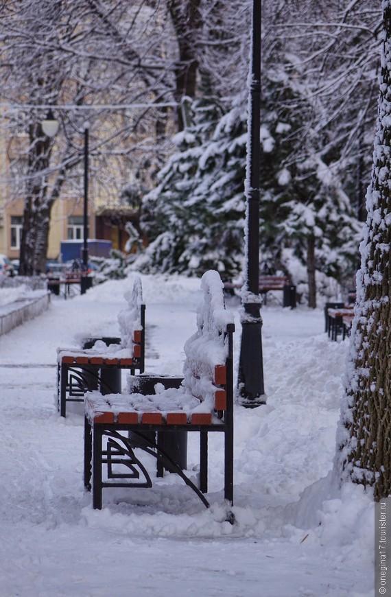 Городские власти делали вялые попытки убрать излишки снега, хотя бы с главных магистралей города, оставляя парки девственно-белоснежными...
