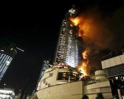 Пожар в Дубае в новогоднюю ночь