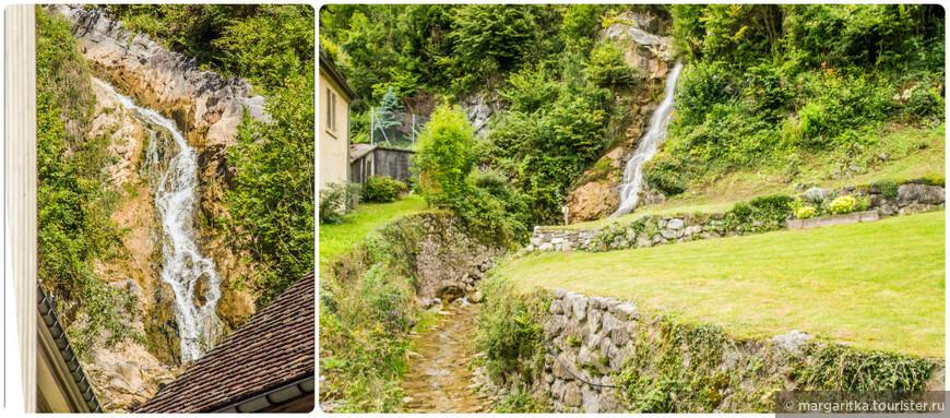 Практически у самых стен монастыря с восточной стороны находится ещё одна природная достопримечательность Везена — водопад.