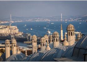 Вид на Босфор от мечети Сулеймание.