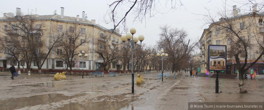 Улица Арбат на Байконуре