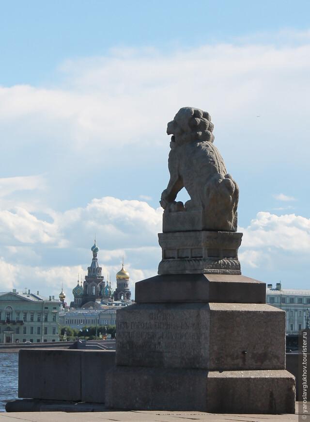Один из львов и Спас-на-Крови.