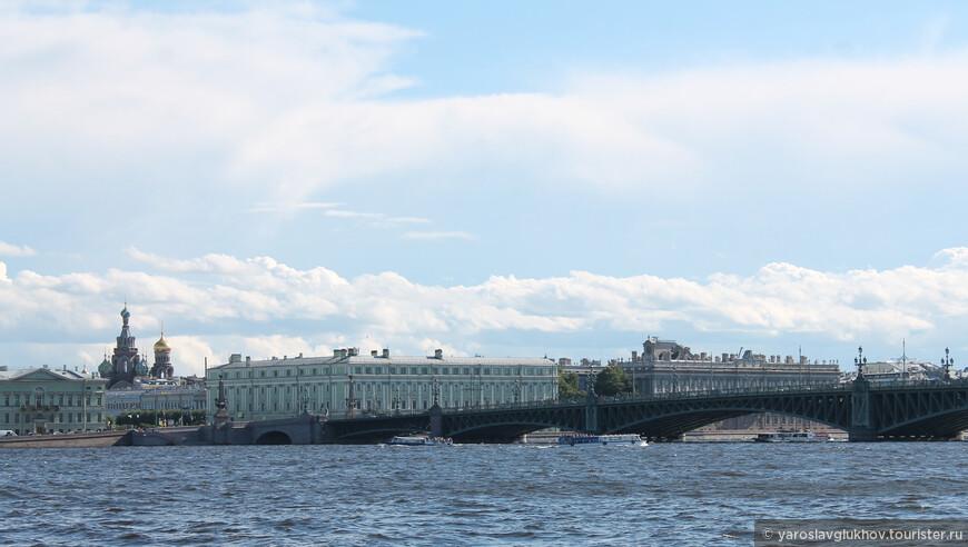 Спас-на-Крови и Троицкий мост. Вид от Ши-цза.