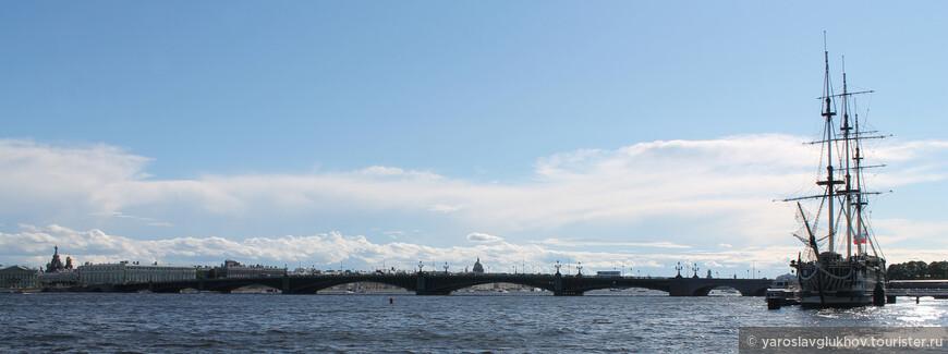 Вид в стороны центра Петербурга.