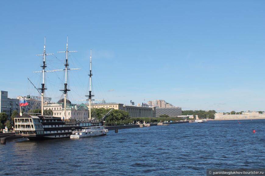 Панорама Петровской набережной с Троицкого моста.