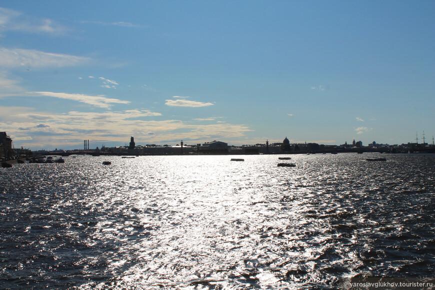 Вид на Васильевский остров.