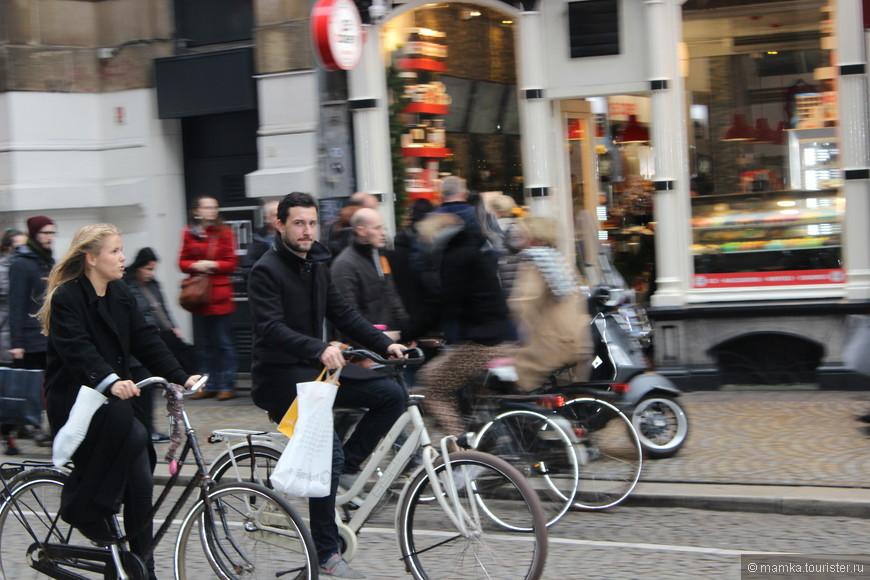И велосипедистов...