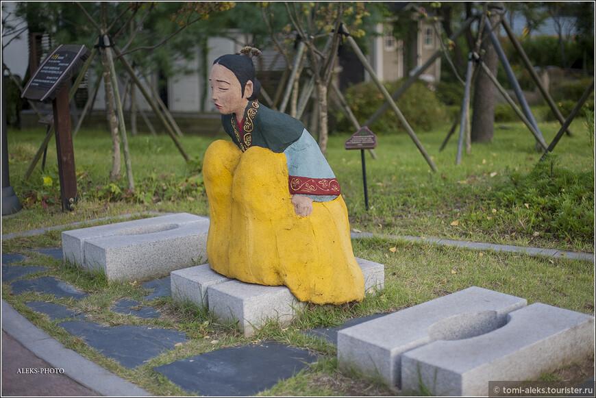 """А это, видимо, корейская принцесса. Как-то уж очень культурно она справляет свою нужду. Так ведь можно и платье замарать. (Шутка). Продолжим про ресурсы. Вновь цитирую: """"...По данным статистики ООН 2,6 млрд человек в развивающихся странах не имеют туалета... ежедневно теряются и не используются никак 3,9 млн тонн урины. За год 2,6 млрд человек производят этого ресурса в три раза больше, чем объем добычи нефти в России..."""". Понимаете, какие глубокие пласты затрагивает эта тема?"""