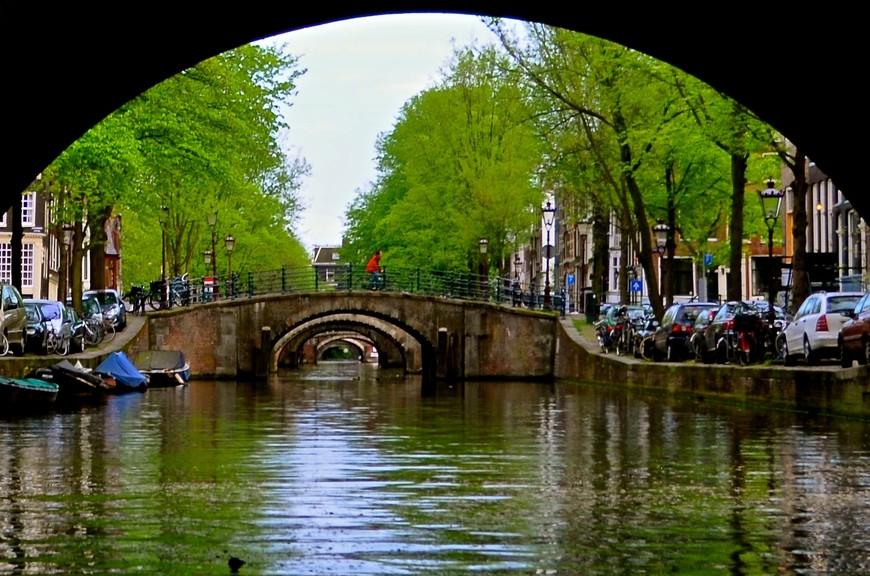 Знаменитая перспектива семи мостов в Амстердаме
