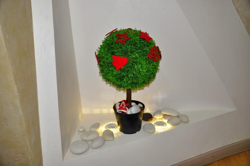 32. Новогоднее дерево-кругляш.