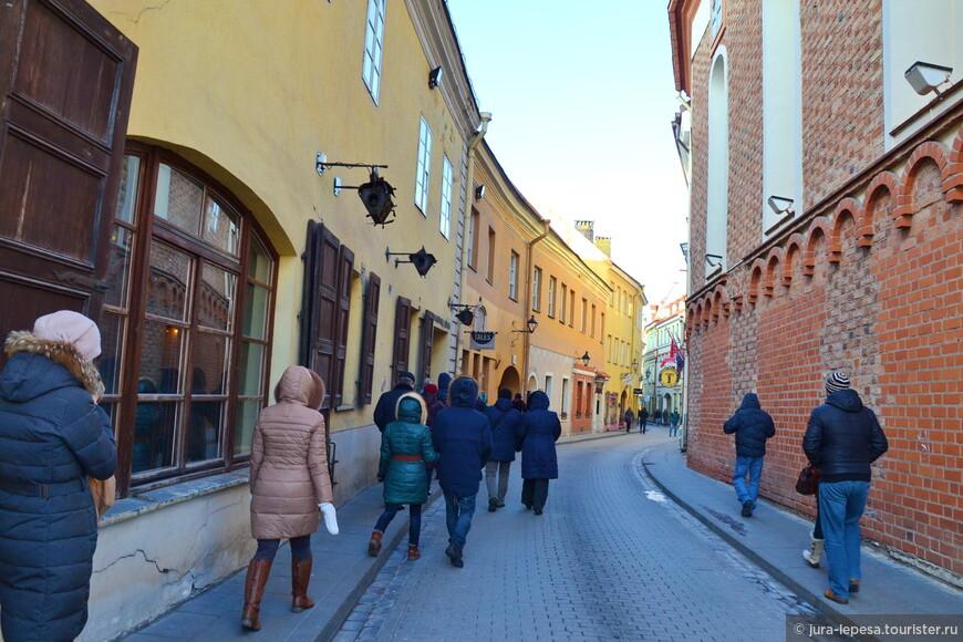 А вот и самый классический вид на улицы Вильнюса.