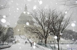 В шести американских штатах объявлен режим ЧП из-за снегопада