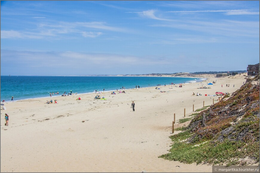 красивый пляж простирается сколько видно глаз на север