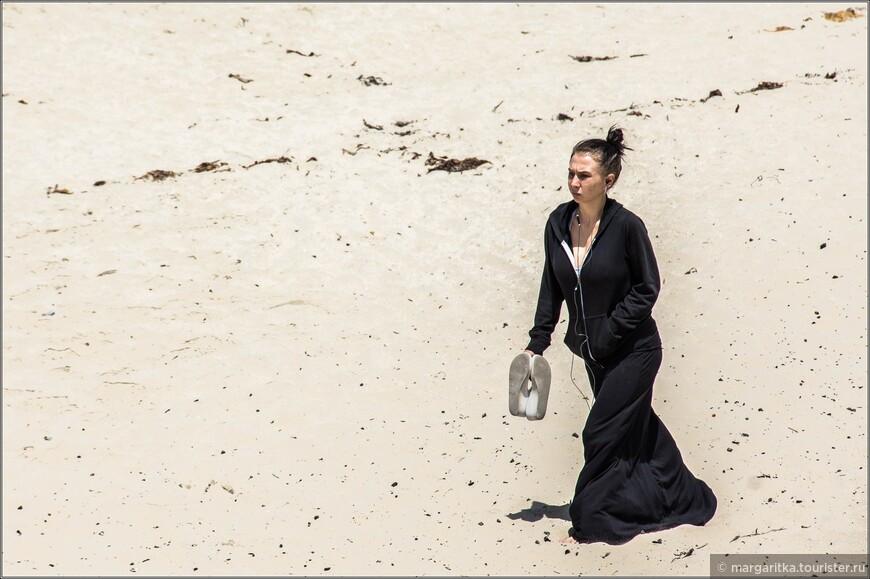 хотя желающих погреть и помассировать ножки о грячий песок всегда достаточно!