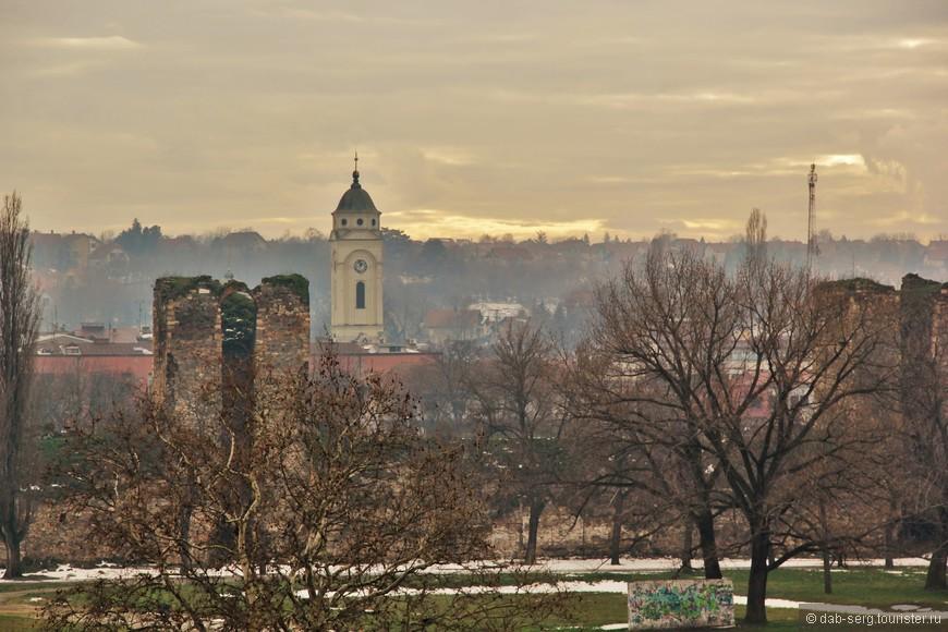 Вид на Смедерево с крепостных стен.